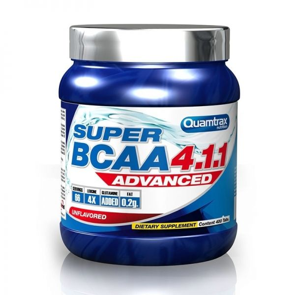 Super BCAA 4.1.1 Advanced - 400 comp. (QUAMTRAX)