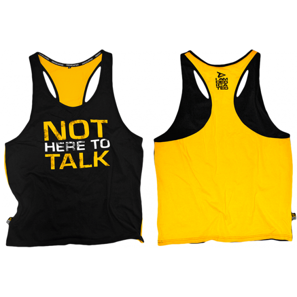 "STRINGER - CAMISETA DE TIRANTES ABIERTA - ""NOT HERE TO TALK"""