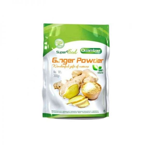GINGER POWDER - 300 GR. (QUAMTRAX)