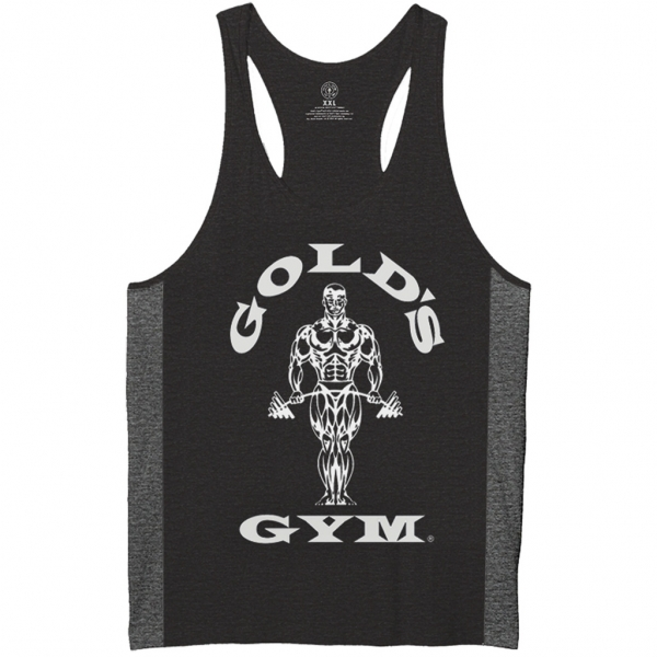 STRINGER  JOE TONAL - CAMISETA DE TIRANTES NEGRA (GOLD´S GYM)