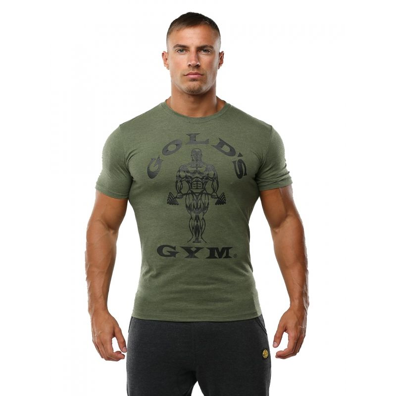 CAMISETA MUSCLE JOE HOMBRE COLOR NEGRO (GOLD´S GYM)