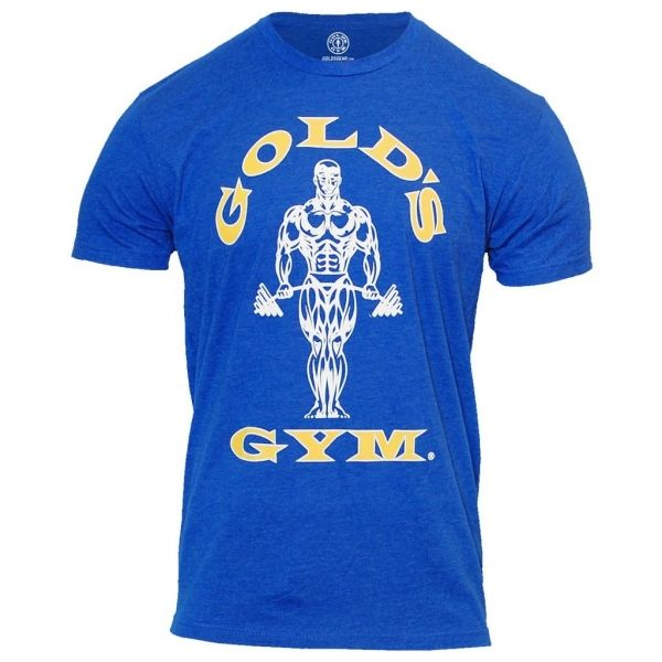 CAMISETA MUSCLE JOE HOMBRE COLOR AZUL ROYAL (GOLD´S GYM)