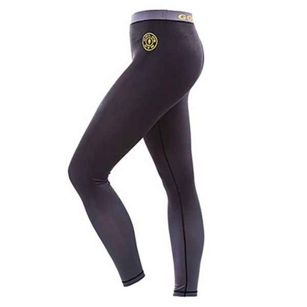 LADIES LONG GYM - LEGGING PARA CHICA COLOR NEGRO / GRIS (GOLD´S GYM)