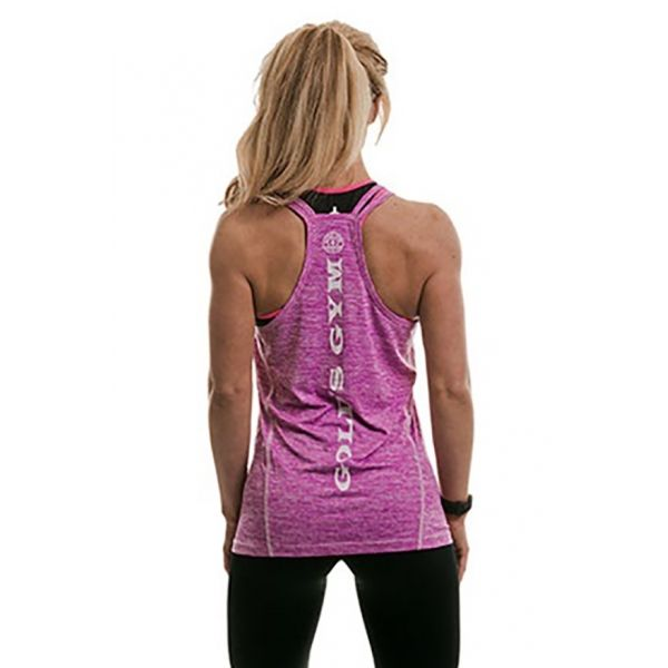 LADIES TOP - CAMISETA DE TIRANTES CHICA COLOR LILA (GOLD´S GYM)