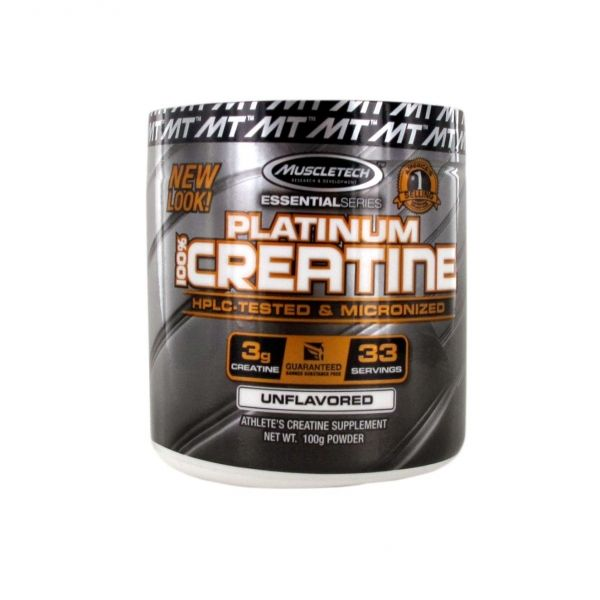 PLATINUM 100% CREATINE 100GR. (MUSCLETECH)