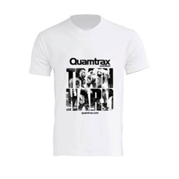 CAMISETA TRAIN HARD CUELLO PICO (QUAMTRAX)
