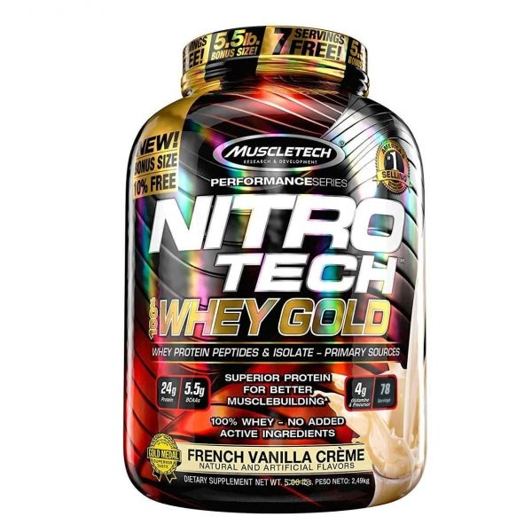 NITROTECH 100% WHEY GOLD - 2.5 KG.