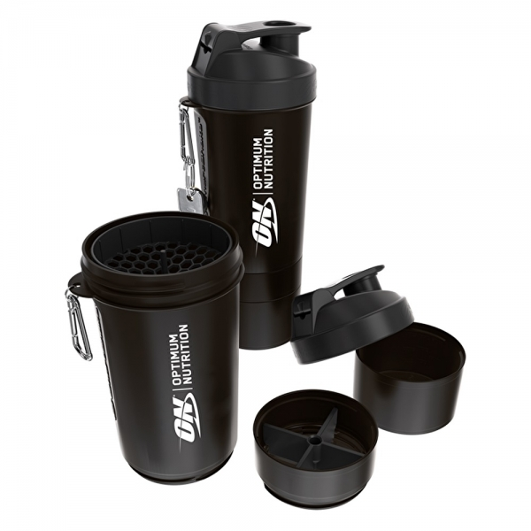 SHAKER MEZCLADOR  800 ML. CON COMPARTIMENTOS (OPTIMUM NUTRITION)