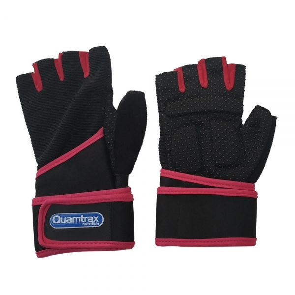 GUANTE TEXTIL CON MUÑEQUERA COLOR ROSA | GLOVES QUALITY ARTIFICIAL LEATHER (QUAMTRAX)
