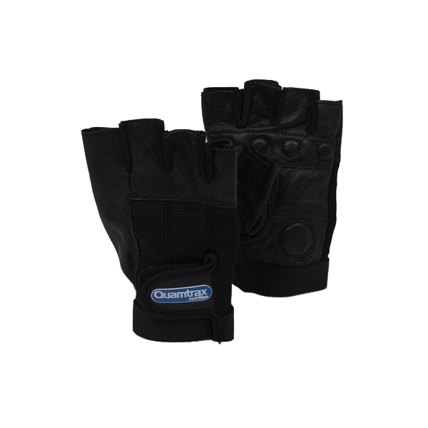 GUANTE DE CUERO DE CABRA | GLOVES QUALITY GOAT LEATHER NEGRO (QUAMTRAX)