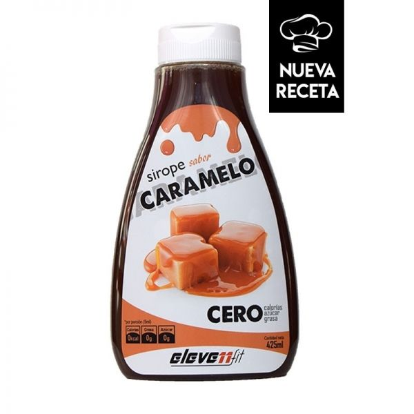 SIROPE SABOR CARAMELO CERO - 425 ML. (ELEVENFIT)