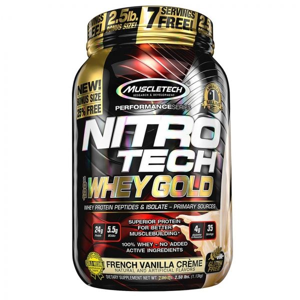 NITROTECH 100% WHEY GOLD  1 KG. (MUSCLETECH)