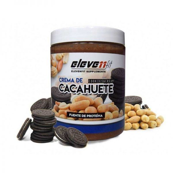 CREMA DE CACAHUETE SABOR COOKIES AND CREAM 300G (ELEVENFIT)