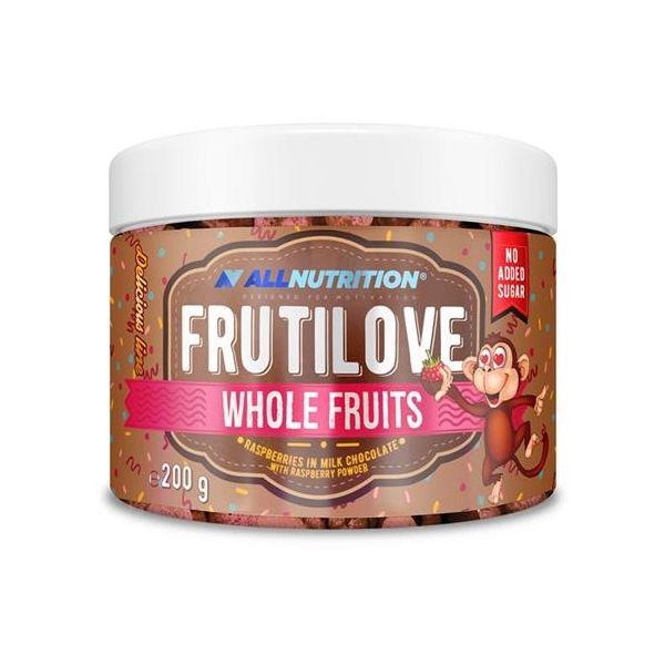 FRUTILOVE WHOLE FRUITS FRAMBUESAS CON CHOCOLATE CON LECHE 200G (ALLNUTRITION)
